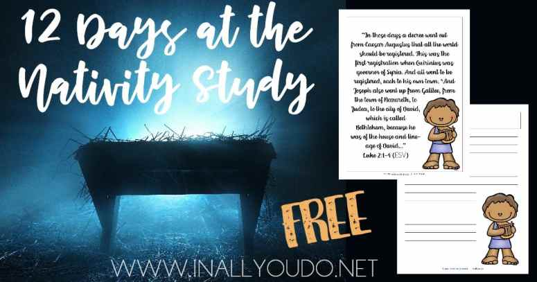Free 12 Days at The Nativity Study at the 24 Days to a Christ-Centered Christmas blog party.