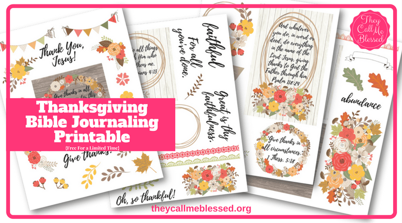 photo regarding Bible Study Journal Printable known as Cost-free Thanksgiving Bible Journaling Printable They Get in touch with Me