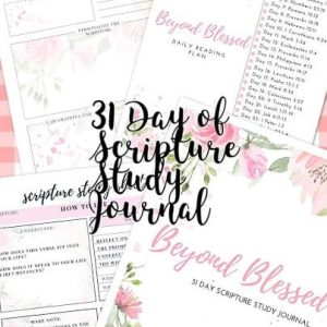 31 Day of Scripture Study Journal