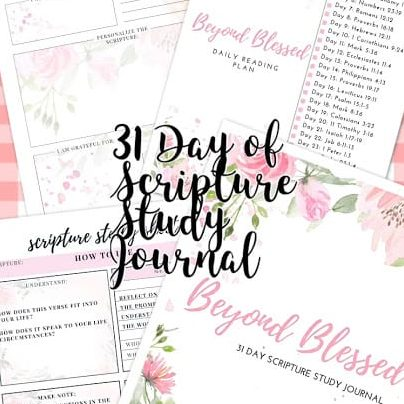 Beyond Blessed Scripture Study Journal
