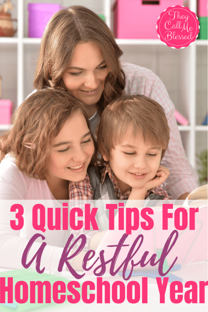 3 Quick Tips For A Restful Homeschooling Year + Giveaway!