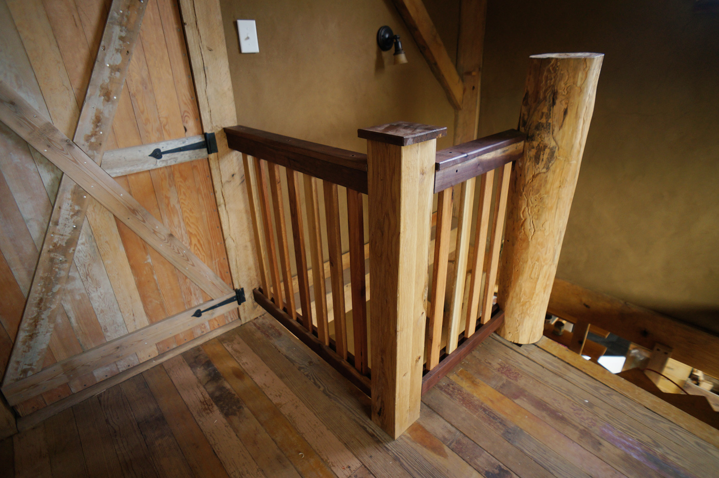 Building A Diy Wooden Interior Stair Railing The Year Of Mud