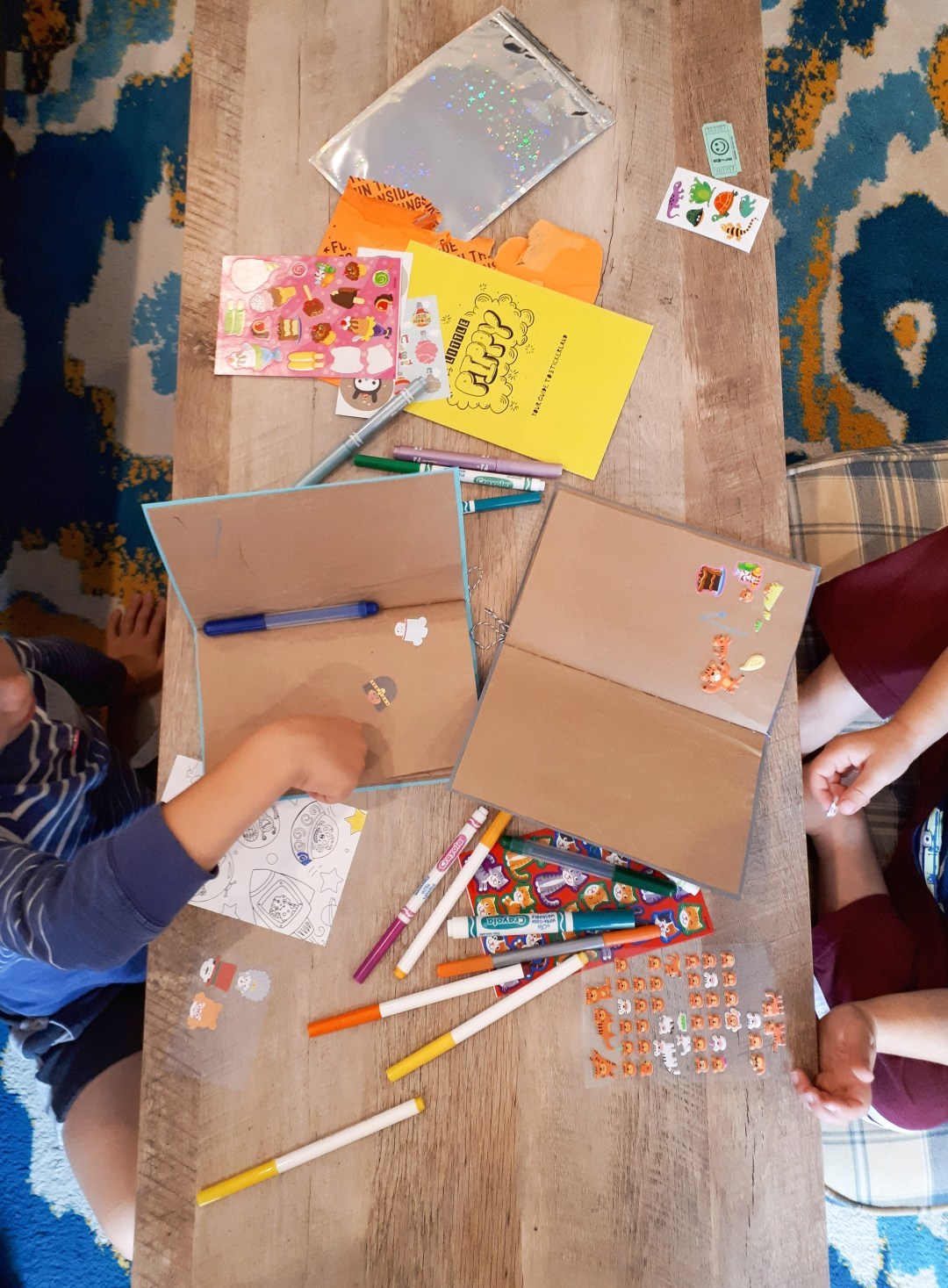 Sticker book tutorial. Simple DIY for an upcycled sticker book for kids