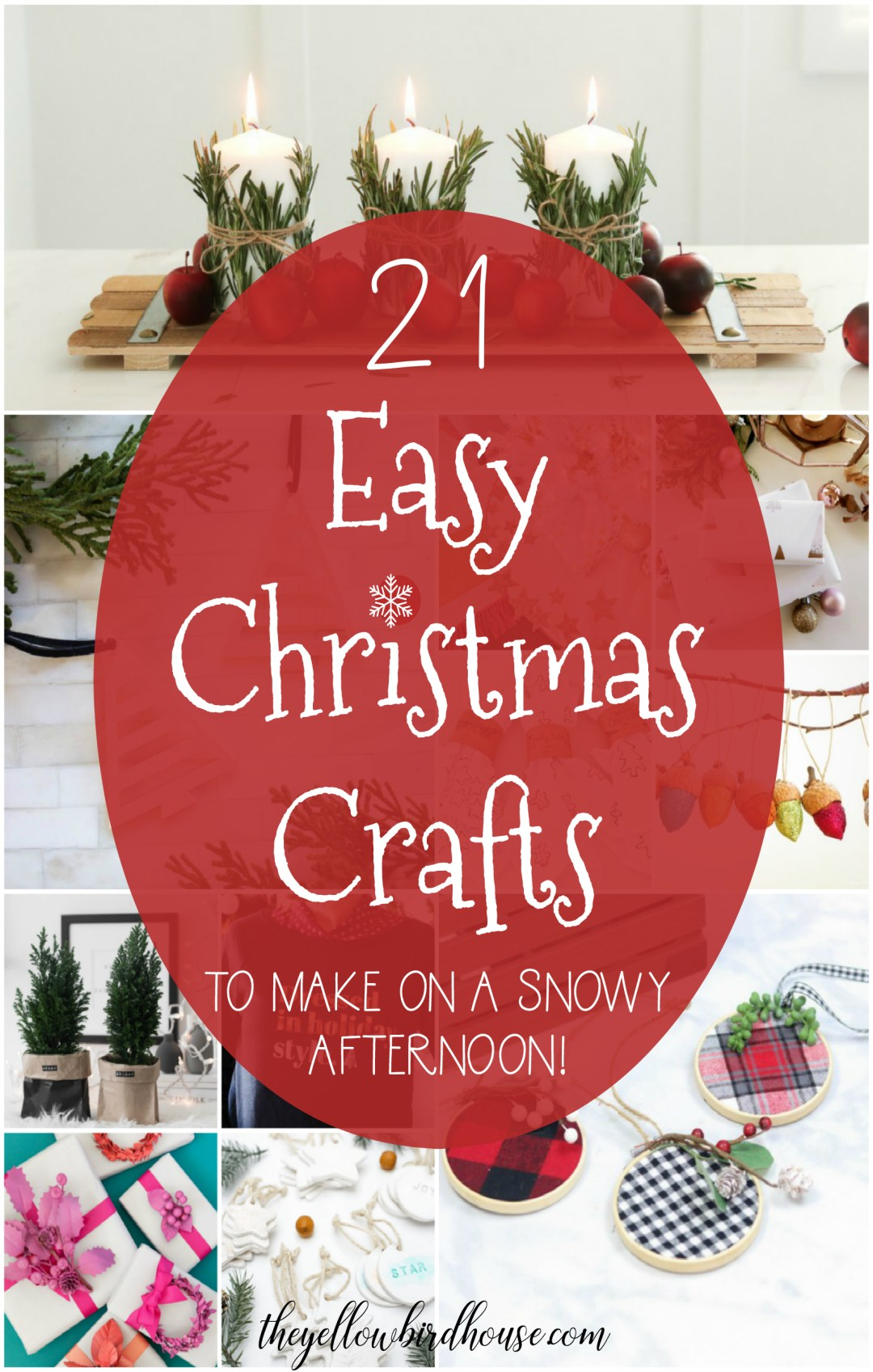 Choose one of these super sweet and easy Christmas crafts to make on a snowy afternoon! DIY Christmas ornaments, decor and gift ideas. Fun DIY ideas to help you create a gorgeous homemade Christmas.