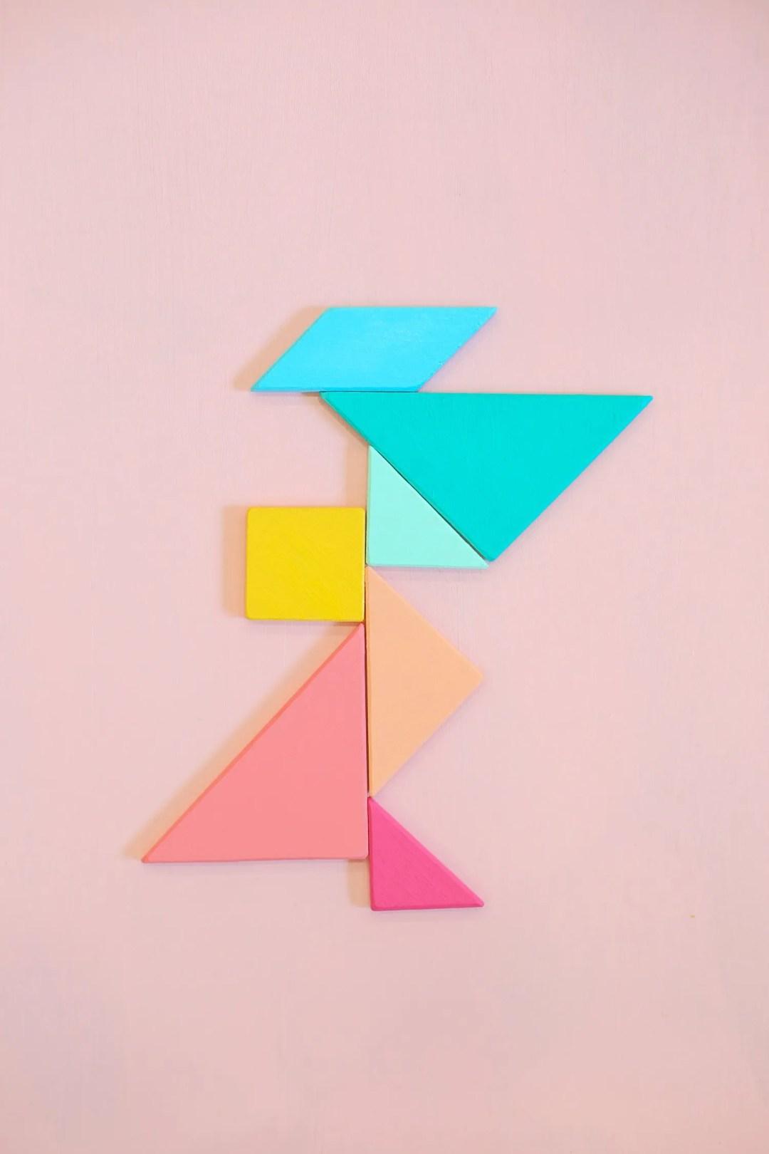 DIY Gift for Kids, handmade tangrams