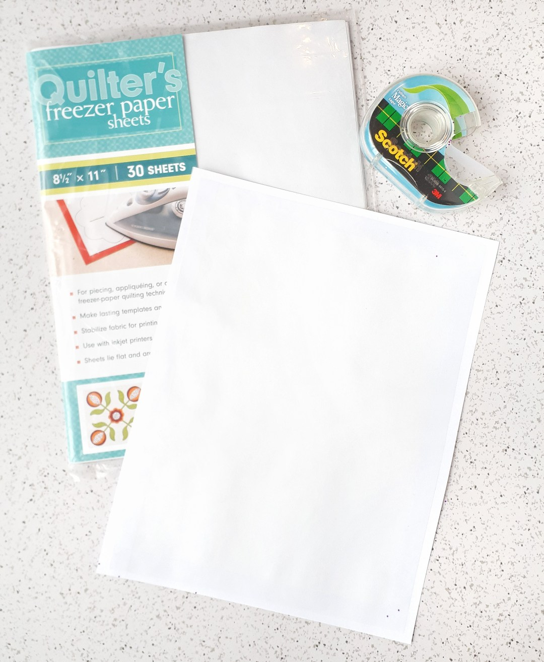 Use freezer paper to transfer complicated patterns to your felt