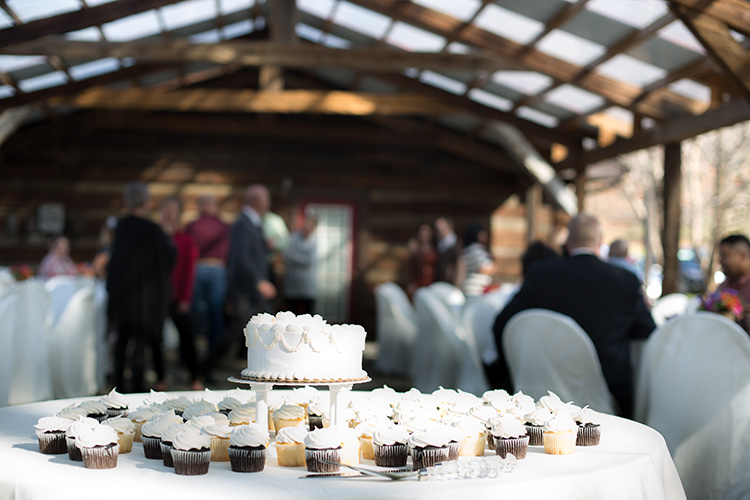 Brown County Wedding Cake And Punch Reception 8 The Yellowwood