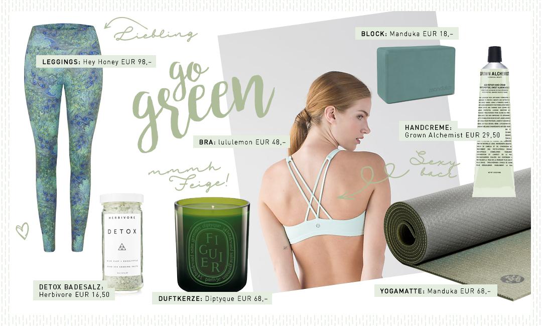"""Yogi's Essentials """"Go green"""""""