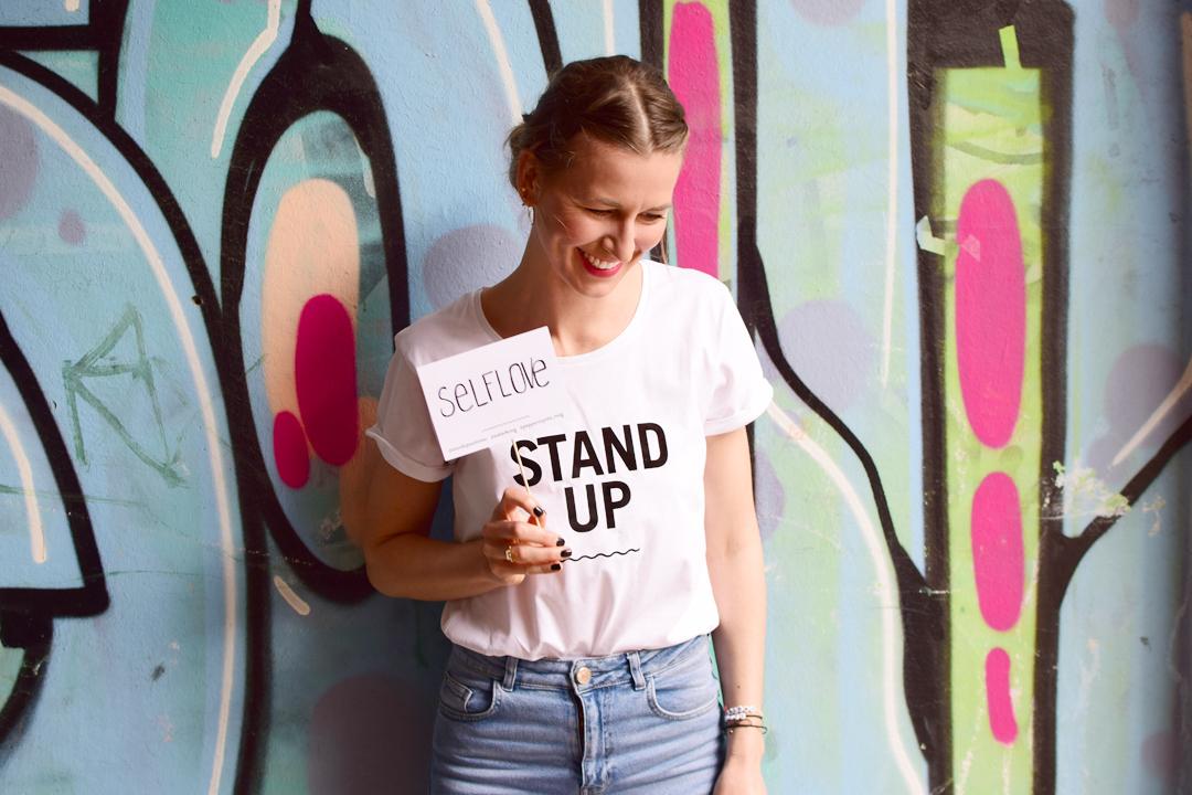 STAND UP Statement T-Shirt Story Selflove Selbstliebe Peppermynta Waterkoog Kollaboration Summer 2017
