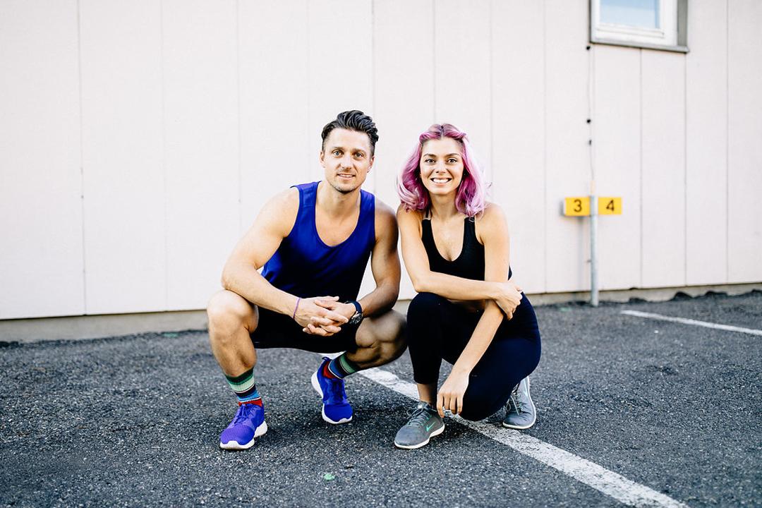 athleticflow Zürich Schweiz Nora und Simon Kersten Yoga Workout Cardio Sport Paar Wanderlust