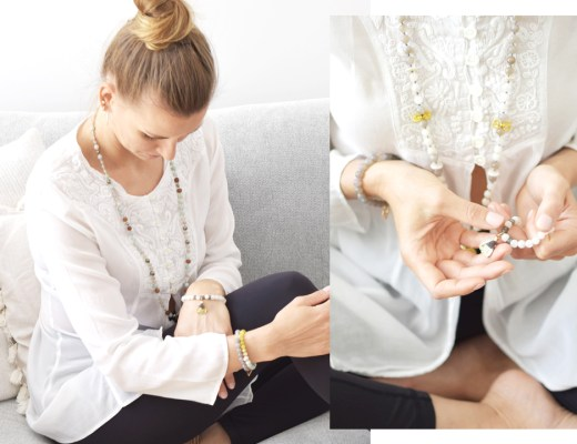 Link & Bikini handgefertigte Gebetsketten Malas Edelsteine Schmuck Yoga Accessoires