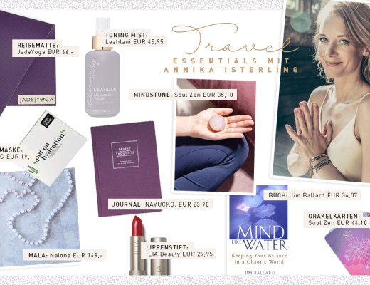 Travel Essentials Special Annika Isterling Yoga Retreat Accessoires Produkte Beauty