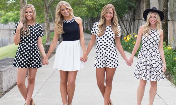 Picture of 4 women wearing summer dresses