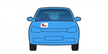 "Image of a cartoon car with the ""L"" learner's symbol"