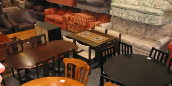 Picture of second-hand furniture, such as tables and sofas