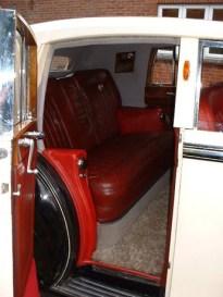 1950 Bentley rear interior - vintage wedding car