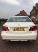Luxury Mercedes E Class Wedding Car - Rear