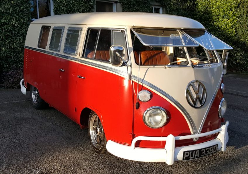 VW Split Screen Campervan - Red & White