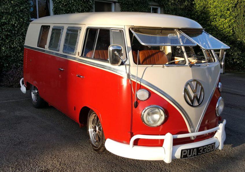 VW Split Screen Campervan - Red & White