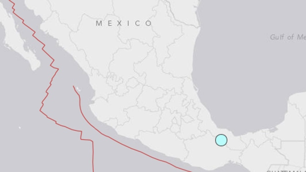 A magnitude 6.3 earthquake hit the eastern Mexican state of Veracruz on Tuesday at a depth of 95 km, the U.S. Geological Survey said. (U.S. Geological Survey)