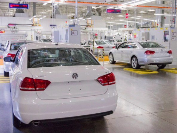 Passat sedans are lined up to be tested at the Volkswagen plant in Chattanooga, Tenn. (Photo: CANADIAN PRESS/AP-Erik Schelzig 2013)