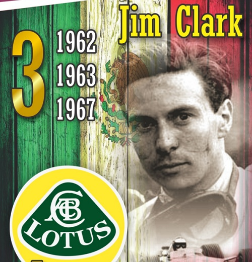 Jim Clark, 3 times champion of the Mexican Grand Prix (caranddriver)