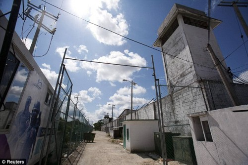 """Photo: dailymail.com.uk Cancun's prison was rated the """"most ungovernable"""" in Mexico."""