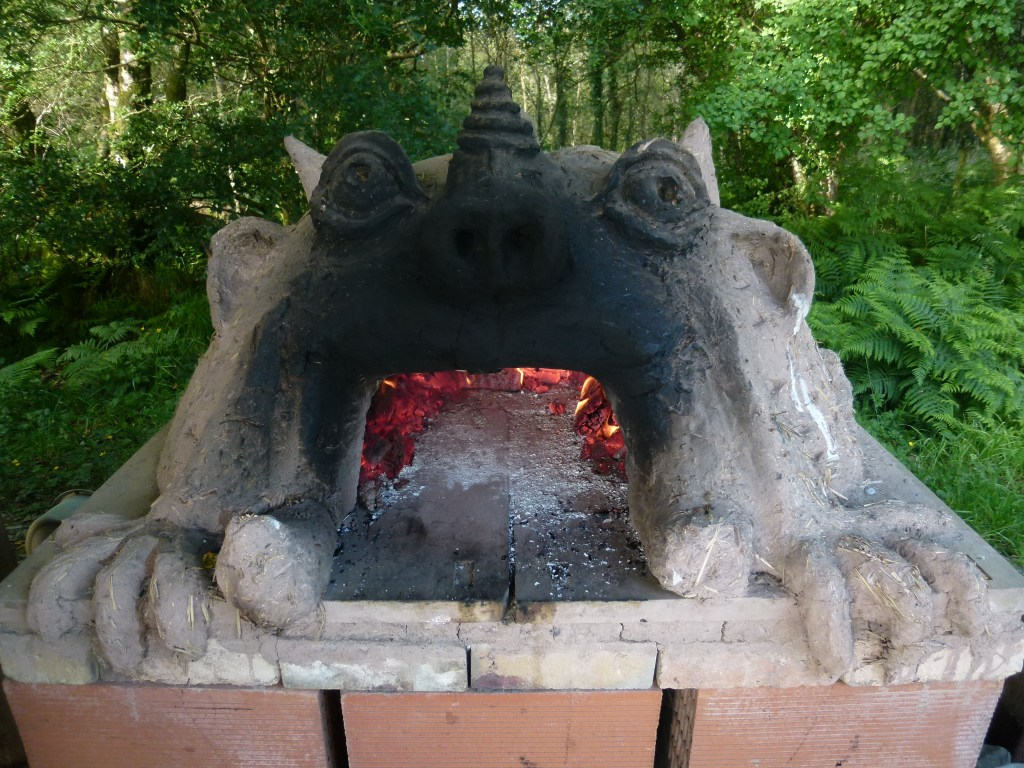 pizza oven at the yurt farm