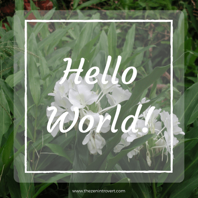 "The title of this post, ""Hello world!"", is appropriate for a brand new baby blog that's only a few weeks old.   The title came with the sample page from WordPress."