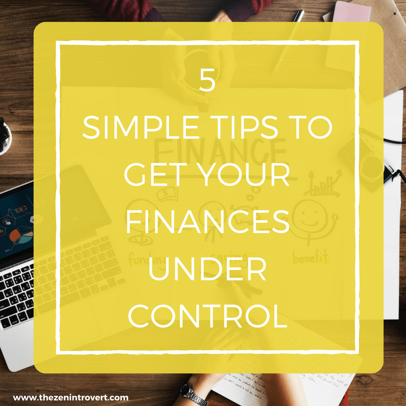 Getting your personal finances under control is key to making your life flow smoothly.