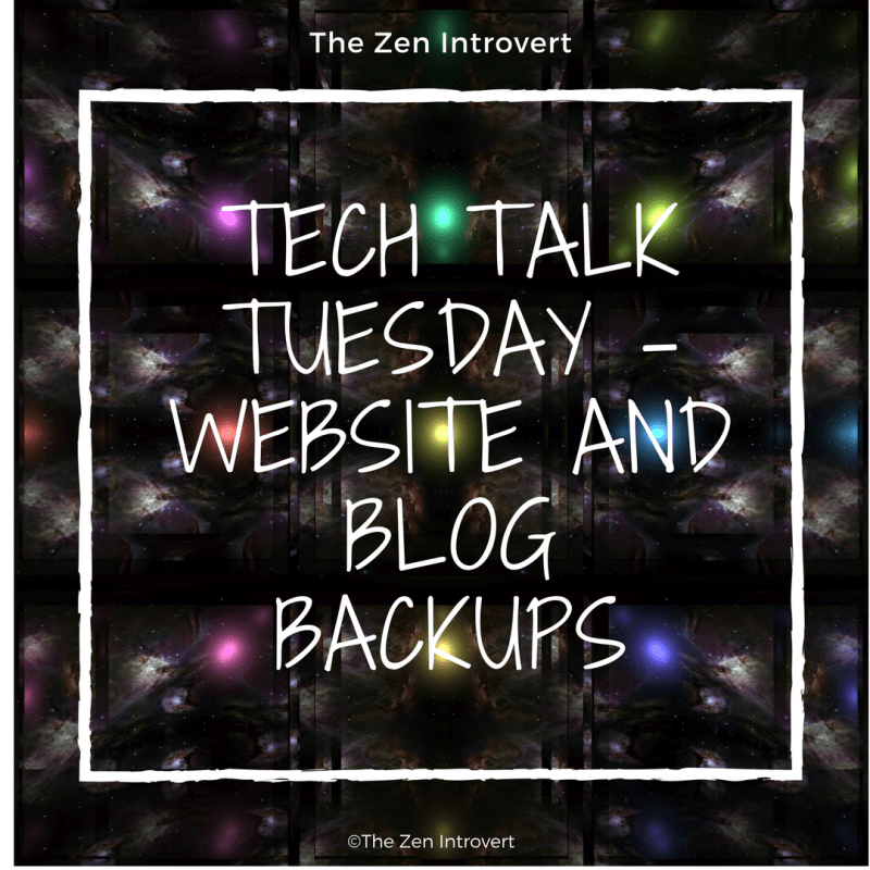 Tech Talk Tuesday - Website and Blog Backups