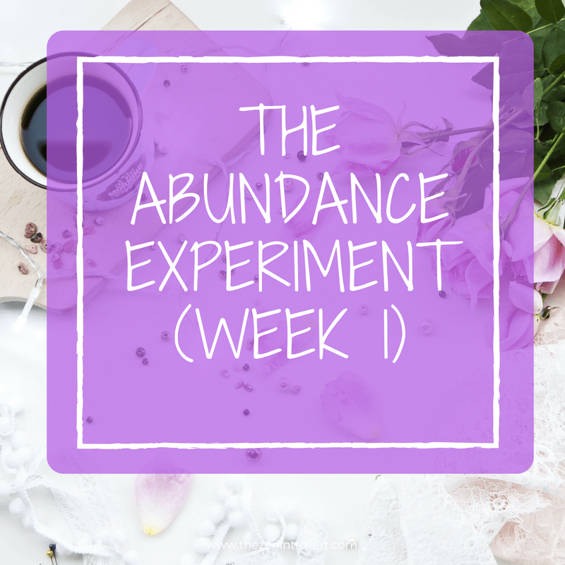 Testing the theory that we make our own abundance in the world
