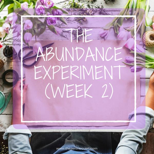 The Abundance Experiment (Week 2)