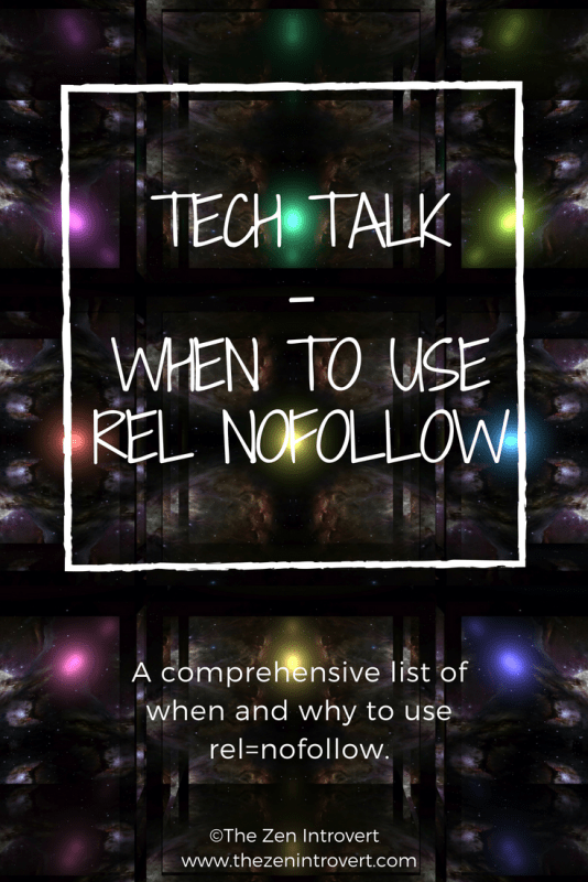 A comprehensive list of when to follow and when to nofollow