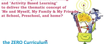 How to use Project Based Learning and Activity Based Learning to deliver the thematic concept of 'Me and Myself, My Family & My Friends' at School, Preschool and home