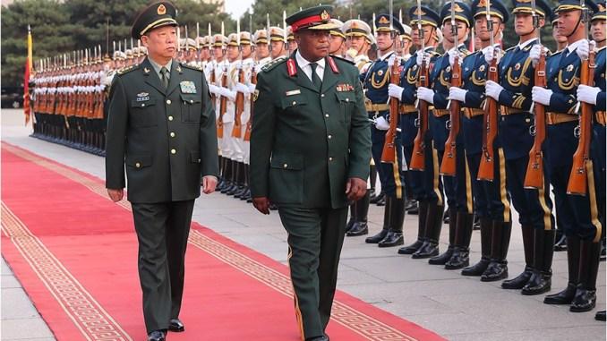 Kết quả hình ảnh cho picture of Constantino Chiwenga visit china