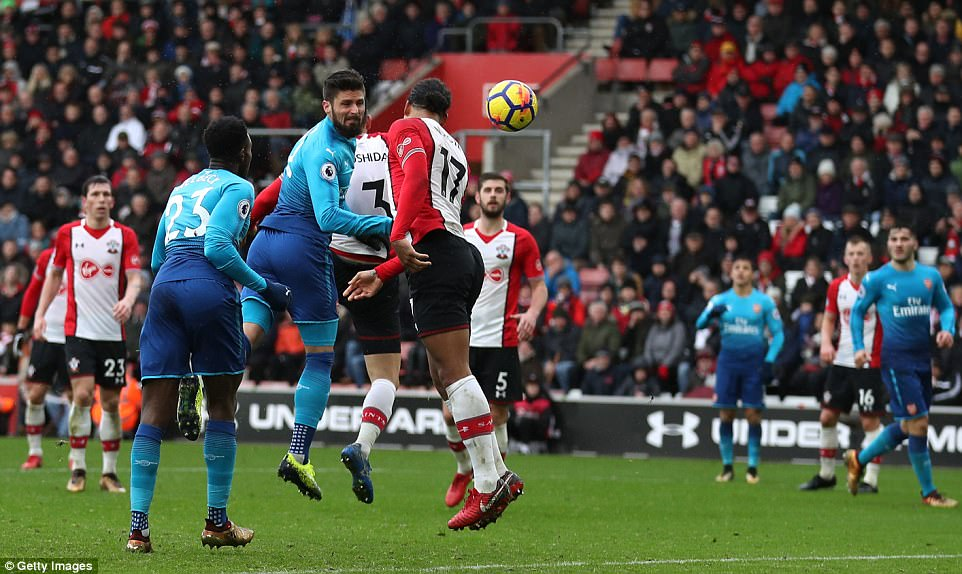 English Premier League Report: Southampton v Arsenal 10 December 2017
