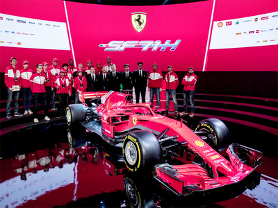 Ferrari launches 2018 F1 auto