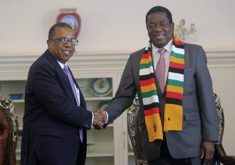 Mnangagwa and US Ambassador to Zimbabwe Brian Nichols