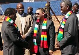 President Mnangagwa chats with African Chrome Fields CEO Mr Zunaid Moti