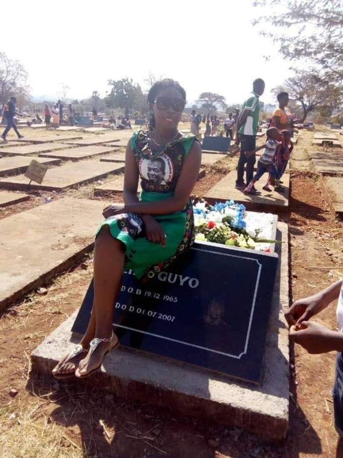 Lorraine Guyo in ZANU PF regalia