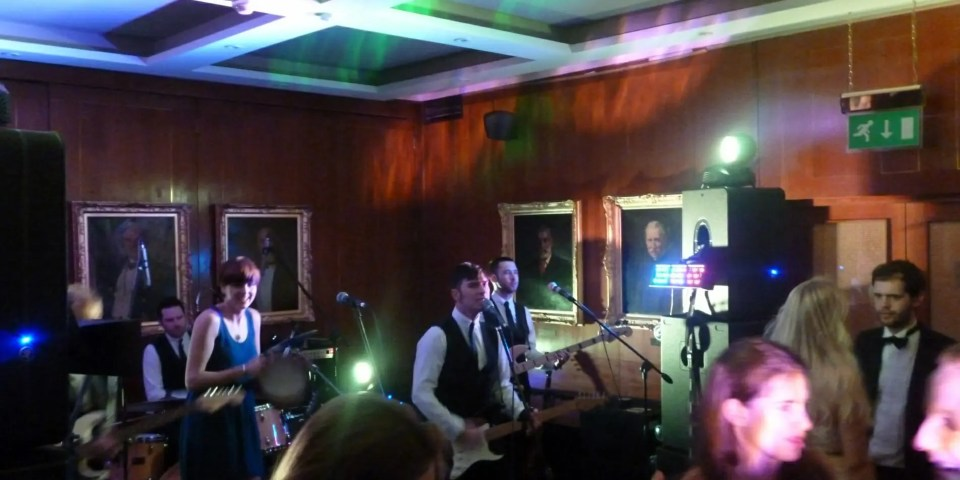 The Zoots party band from Wiltshire performing at The Royal Thames Yacht club Ball in London