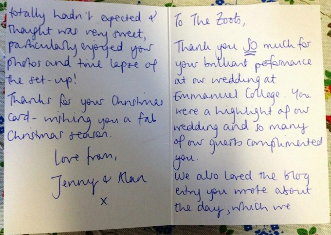 Jenny and Alan testimonial
