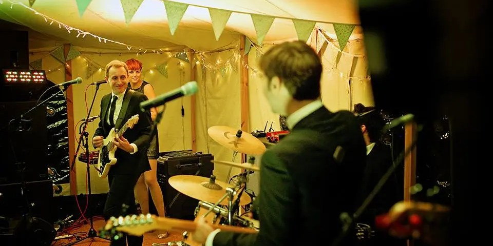 Tamzin and Dan's wedding with The Zoots 1
