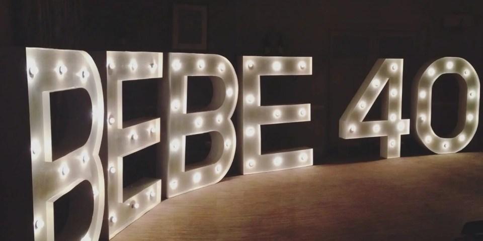 Bebe in lights