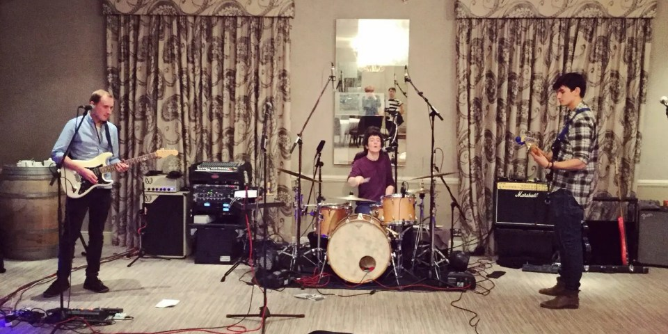 Soundcheck, band, Vineyard Hotel, Newbury
