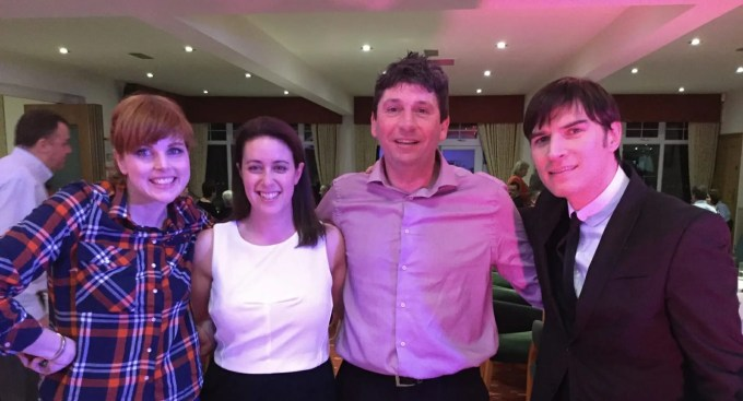 Harriet, Dani, Stuart and Jamie from THe Zoots, the party band at West Herts golf club, party in west hertss, band in herts, band in rickmansworth