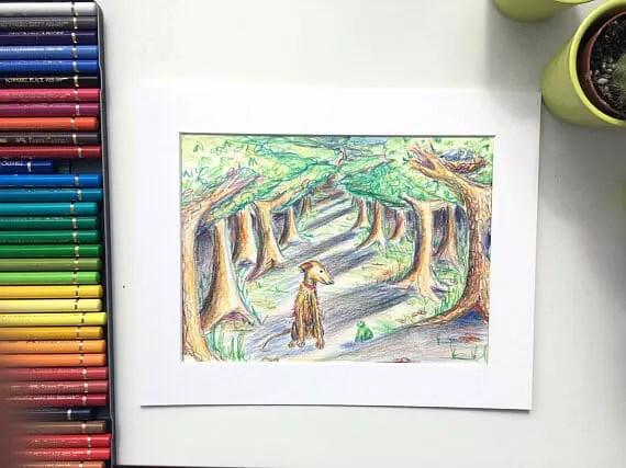 made by harriet, gift ideas, original artwork, wiltshire artist