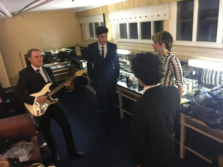 The Zoots band at Blackpool Tower backstage
