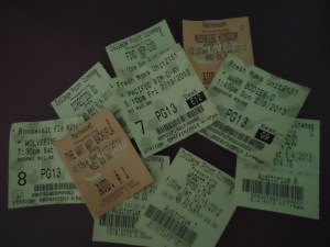Don't start your 3-D Ticket Collection. Photo by Jennifer Walsh.